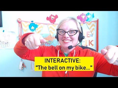 "VIPKID SONGS: INTERACTIVE L2-U9-LC2-7 ""The Bell on My Bike..."" by Teacher Jennie"