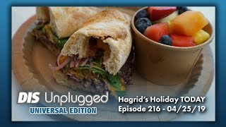 TODAY Cafe Review + Hagrid's Creatures + Holiday Dates Announced | Universal Edition | 04/25/19