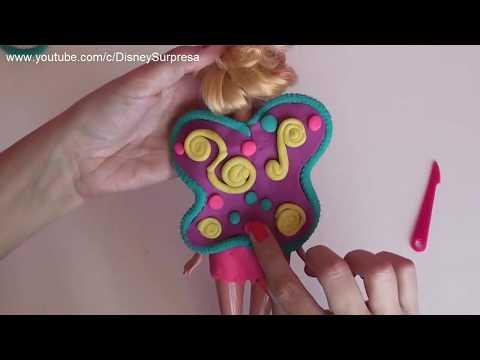 BARBIE em Barbie FADA Massinhas Play doh Tinker Bell em Português Disney Surpresa