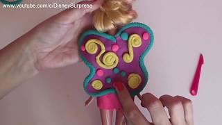 Fiz uma BARBIE FADA usando Massinhas Play doh | Disney Surpresa