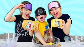 CILLA & MADDY CHEATED! Blindfolded Slime Challenge!!