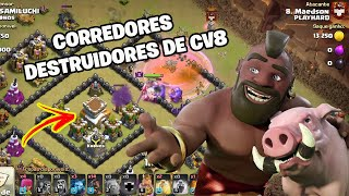 LINDO PT DE CORREDOR NA GUERRA DO PLAYHARD DE CV8 | Clash of Clans
