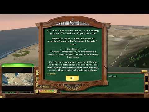 Let's Play Railroad Tycoon 3 Fan Made Scenarios: Trans Caspian Part 1 of 9