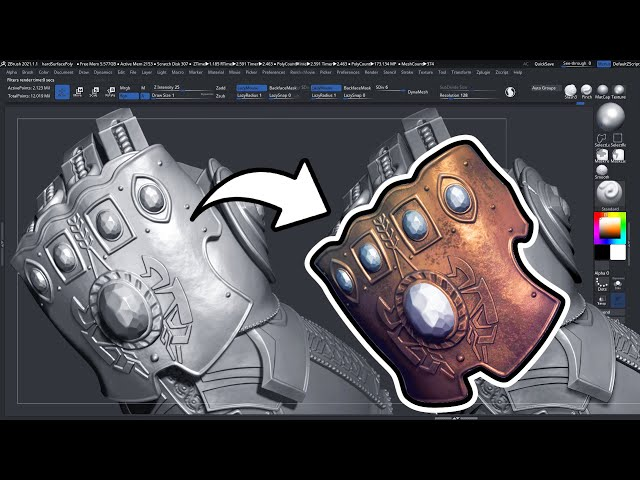Hard Surface Polypainting in Zbrush