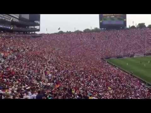 The amazing crowd at Michigan Stadium during the ManUtd vs
