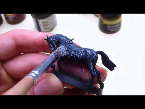 HOW TO PAINT a Grey Horse with 2-3 Paints and Washes!