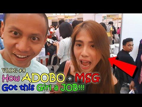 How ADOBO + MSG got this Girl a Job!   VLOG #8