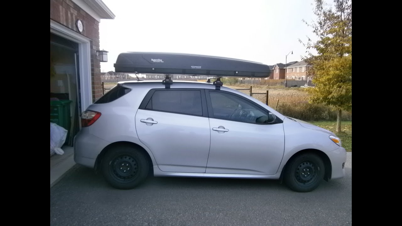 Installing a Thule Rack on 2012 Toyota Matrix - YouTube