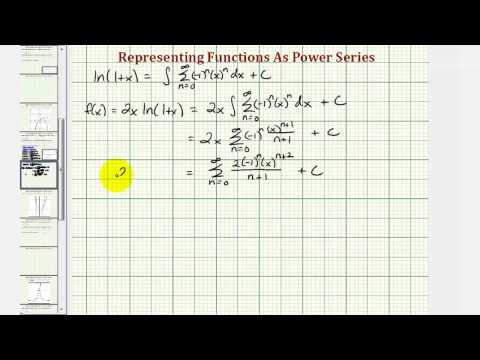 Ex: Find a Power Series to Represent a Power Series Using a Product