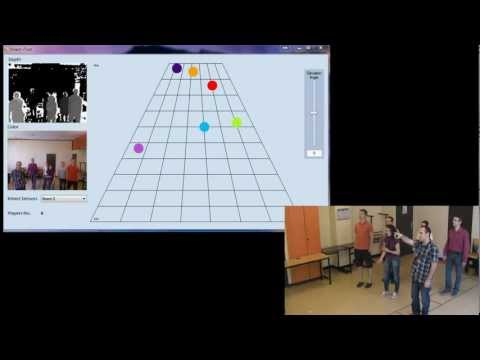 Tracking people position with Kinect