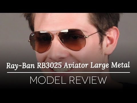 ray ban rb3025 review  Ray-Ban RB3025 Aviator Large Metal Sunglasses Review - YouTube