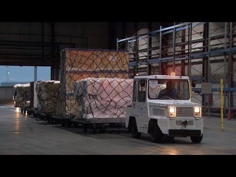 В Алматы прибыла первая партия гуманитарной помощи из Китая
