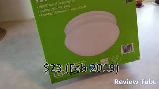 """Commercial Electric 9"""" LED Ceiling Light Fixture Review"""