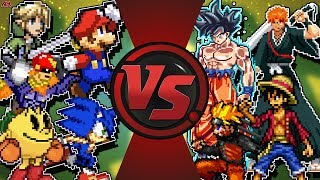 SUPER SMASH BROS ULTIMATE vs JUMP FORCE (Link, Mario, Sonic vs Goku, Naruto, Luffy & More) Animation