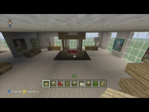 Minecraft Xbox 360:Home Furiture Ideas and Tutorial!!! (Bedroom Room)