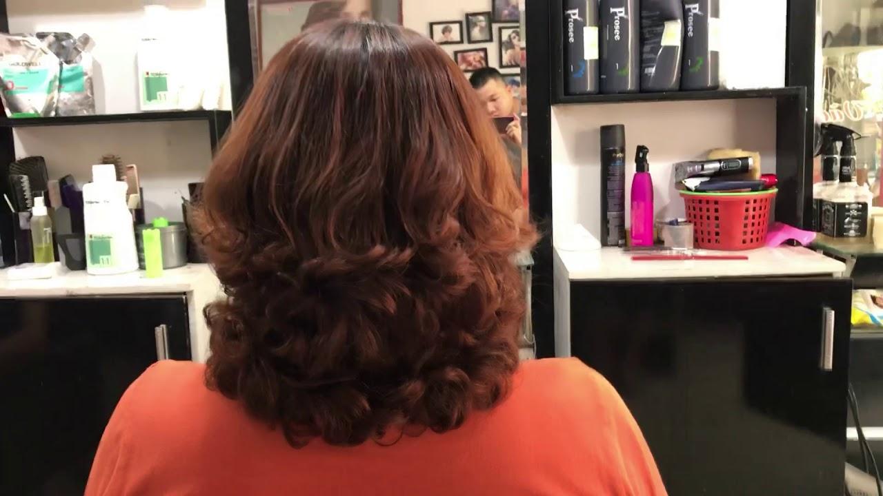 Tóc xoăn ngắn tuổi 40 đẹp năm 2018(salon tóc phương thuỳ)0973345896