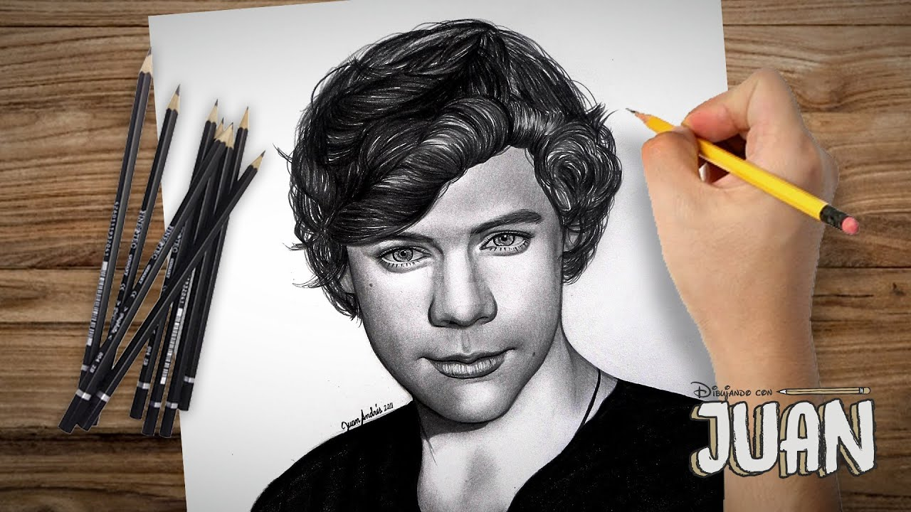 One direction drawing harry styles by juan andres youtube