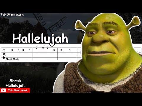 Shrek - Hallelujah Guitar Tutorial