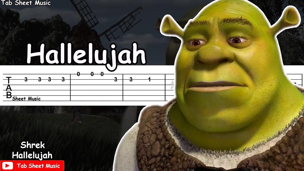 Shrek Hallelujah Guitar Tutorial Youtube