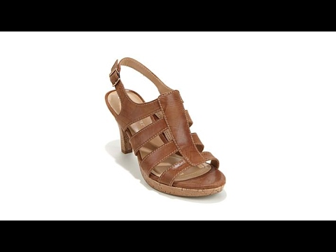 8b99aead5f11 Naturalizer Preya Leather Cage Platform Sandal - YouTube