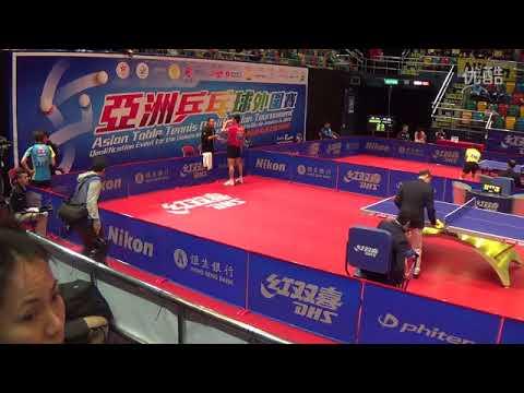 张继科  ZHANG Jike VS 水谷隼 MIZUTANI Jun 2016 Asia Olympic Qualification Men's Single QF