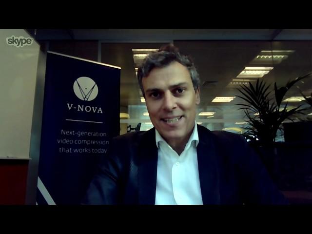 V-NOVA: ما قبل NAB عرض فيديو مقابلة. ردًا علىVNovaVideo