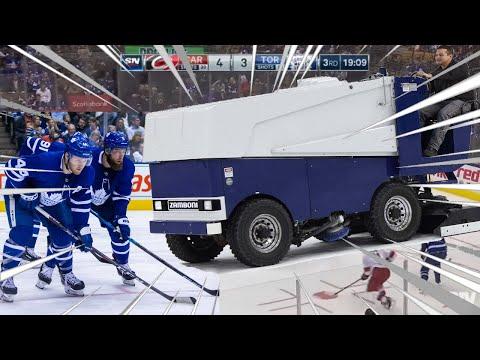 The Toronto Maple Laffs Vs 42 Year old Zamboni Driver David Ayres (Video)