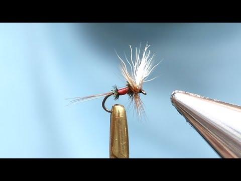 Quack Fly Tying Tutorial (Size 18) - Royal Wulff Coachman - Dry Fly