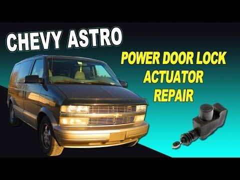 Chevy Astro Van Power Door Lock Actuator Repair Youtube