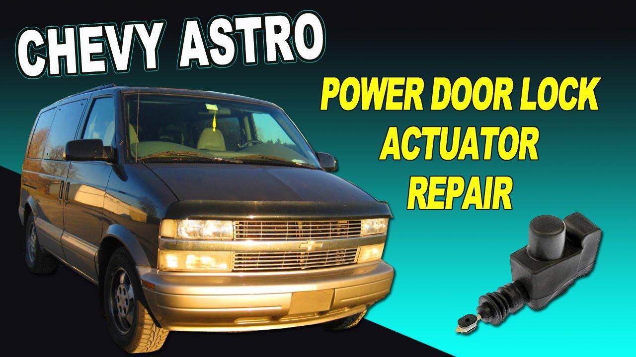 small resolution of chevy astro van power door lock actuator repair