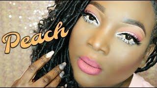 Dark Skin || Peach Eyeshadow Tutorial