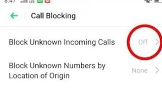 Huawei Honor Block Unknown/Stranger Incoming Calls || How to Block Unknown/Strangers Incoming Calls