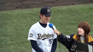 110501 オリックス 山田修義投手のヒーローインタビュー@神戸サブ球場
