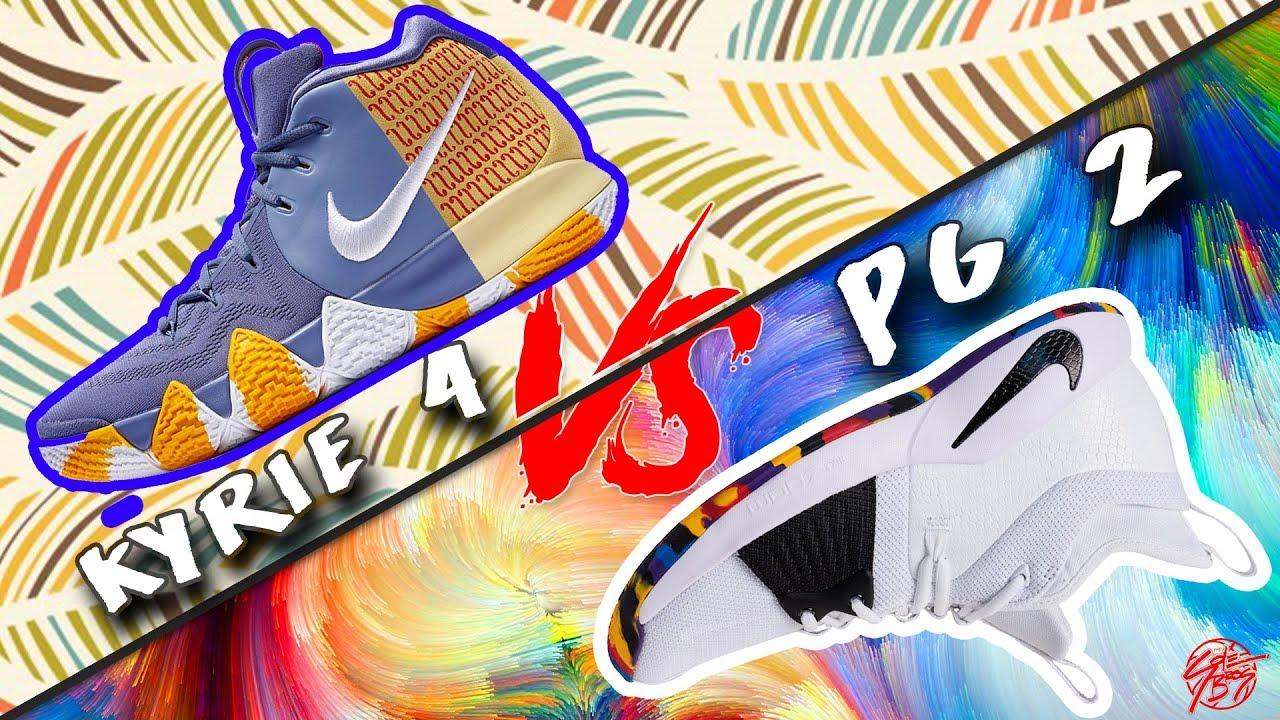 3cad986a88b2 Nike Kyrie 4 vs PG 2! - YouTube