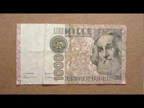 1000 Italian Lire Banknote (Thousand Italian Lire / 1982), Obverse and Reverse