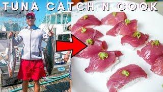 Tuna Catch and Cook Mukbang (참치 먹방)