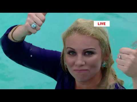 Jumped in a pool on live TV!