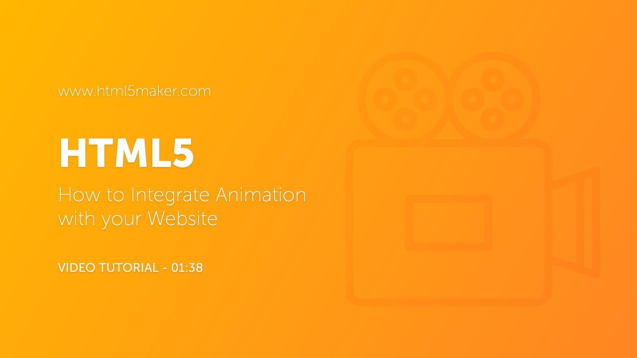 Html5: How To Integrate Animation With Your Website