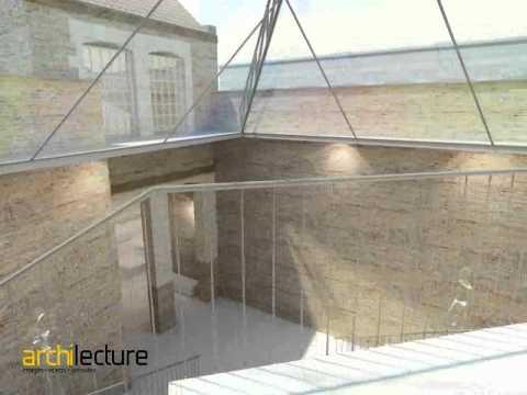 Animation 3D Projet d'architecture Réhabilitation commerce du Vieux LILLE