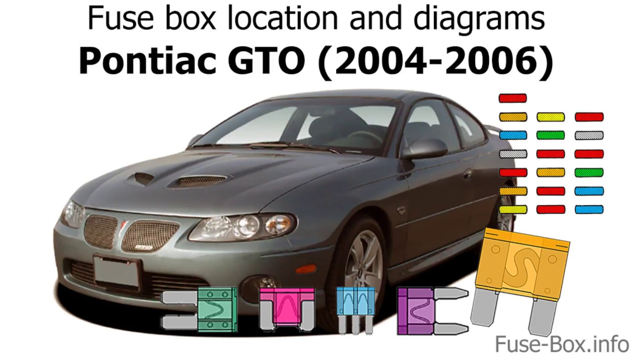fuse box location and diagrams: pontiac gto (2004-2006) - youtube  youtube