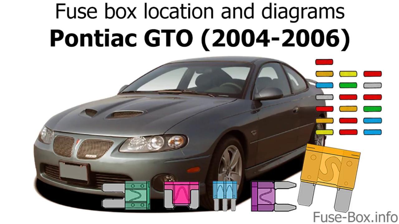 Fuse box location and diagrams: Pontiac GTO (20042006