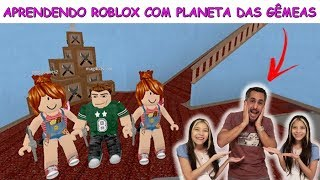 LEARNING TO PLAY ROBLOX WITH TWINS PLANET