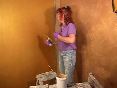 Faux Plaster how-to paint a cracked venetian plaster metallic faux finish and
