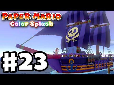 Paper Mario: Color Splash - Gameplay Walkthrough Part 23 - The Lost Sea! (Nintendo Wii U)