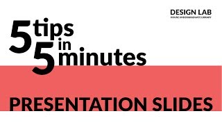 5 Tips in 5 Minutes - Presentations