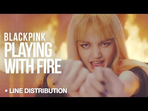 BLACKPINK - Playing With Fire : Line Distribution (Color Coded)