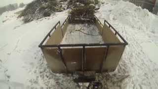 How to Unload trailer with winch - (DIY) Do it yourself dump trailer