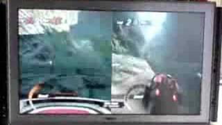 Motorstorm: Pacific Rift - split-screen gameplay