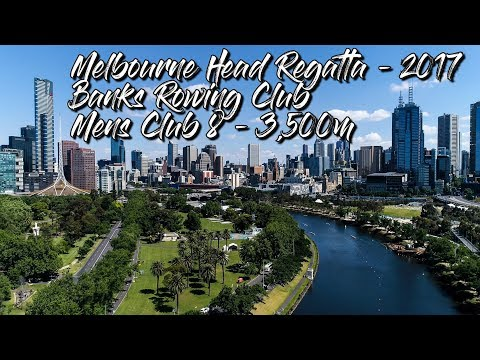 Melbourne Head Regatta 2017 - Banks Rowing - Mens Club Eight 4K