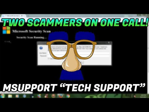 Tech Support Scam / Two scammers on one call! - 18554117333 - www.msupport.us